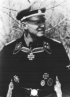 SS-Obersturmbannfuhrer Christian Tychsen. WWII German soldier. Knights Cross with Oakleaves earned.