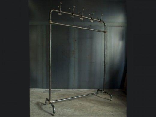 Industrial style rail hanger rack hook / ハンガーラック - Leyenda(レエンダ)