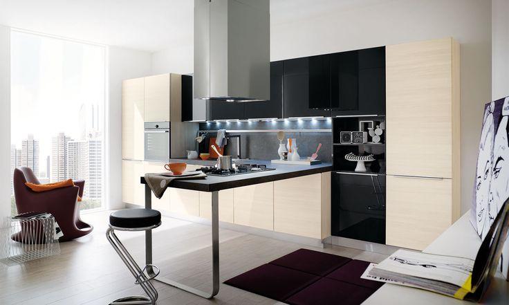 #cucine #cucine #kitchen #kitchens #modern #moderna #gicinque #city www.gicinque.com/...