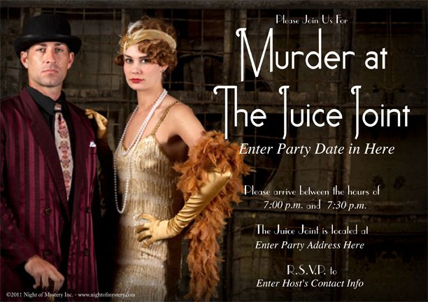 Download an invitation for this ROARING 20s themed murder ...
