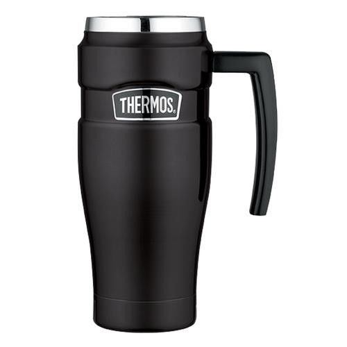 Thermos Stainless King&trade Vacuum Insulated Travel Mug - 16 oz - Stainless Steel/Matte Black