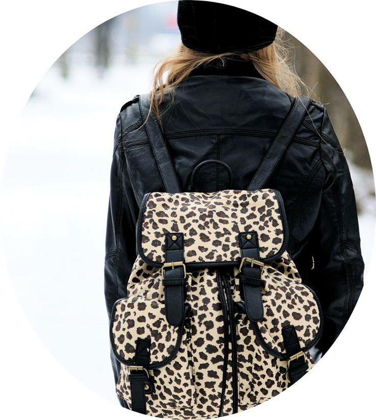 Plecak vintege retro PANTERKA SHOCK share&block plecak we wzór WILD panterki