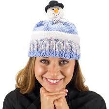 DMC Top This Yarn Snowman Hat