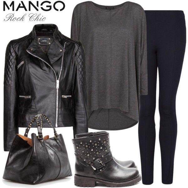 Rocker Chic Style | Fashion Style with MANGO: Rock Chic - Polyvore