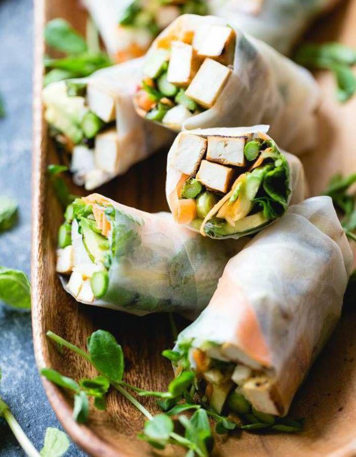 Rouleau de printemps végétarien : frais et healthy, on fond pour le rouleau de printemps végétarien - Elle à Table