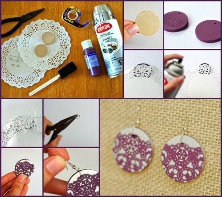 DIY Earrings Tutorials Some are cute, some are pretty atrocious