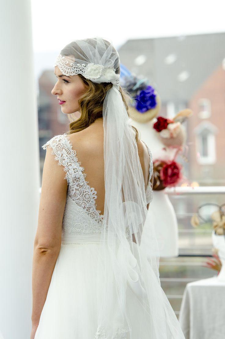 242 best tocado de novias images on Pinterest | Bridal hairstyles ...