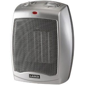 Lasko 754200 Ceramic Heater with Adjustable Thermostat - $23 - one of the highest rated fan heaters from consumersearch.com