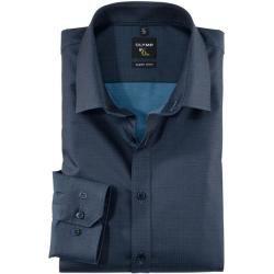 Olymp Level Five Hemd, body fit, Extra langer Arm, Rauchblau, 38 Olympolymp