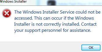 """ظهور رسالة الخطأ """"تعذر الوصول إلى خدمة Windows Installer"""" عند محاولة تثبيت برنامج على نظام التشغيل Windows 7 ظهور رسالة الخطأ """"تعذر الوصول إلى خدمة Windows Installer"""" عند محاولة تثبيت برنامج على نظام التشغيل Windows 7"""
