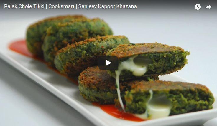 Palak Chole Tikki Recipe Video