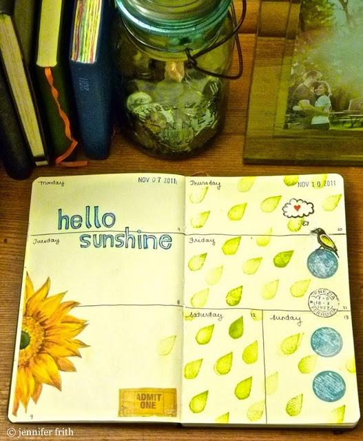 Calendar Art Journal : Calendar journal cldnt find this exact page but jenny s