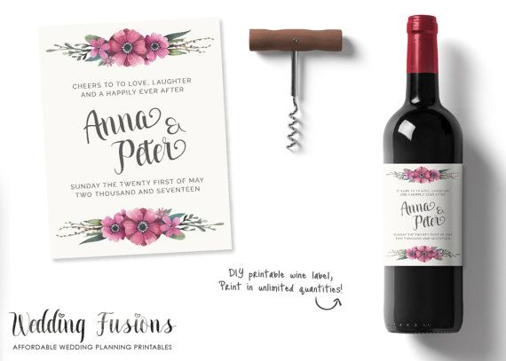 Personalized Wine Labels Personalised Wine by WeddingFusions