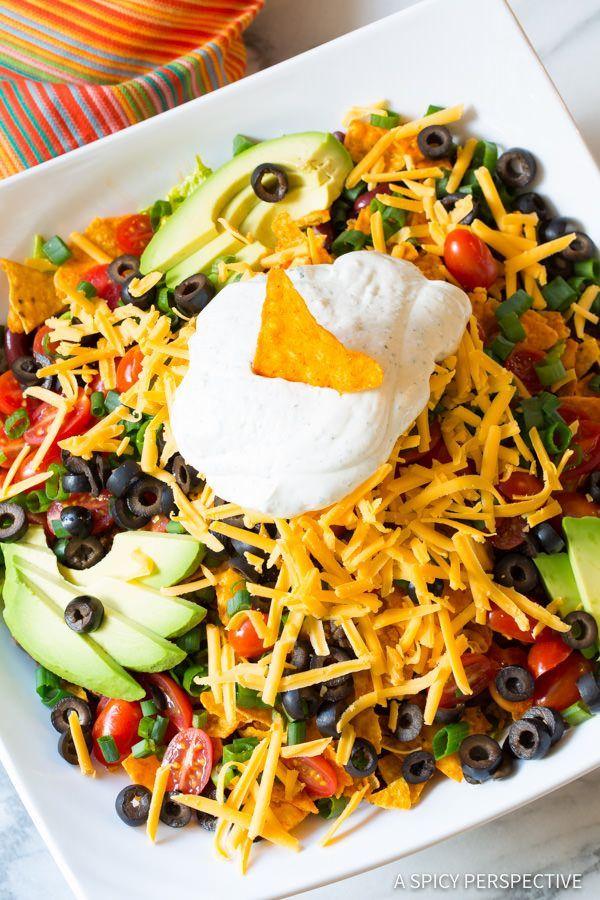 Must-Make The Ultimate Dorito Taco Salad Recipe | ASpicyPerspective.com