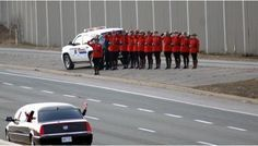 Highway of Heroes. This is how Canadians repatriate their fallen soldiers. People gather on every bridge and along the highway route from the military base in Trenton Ontario to the chief coroners office in Toronto. 170kms Ordinary citizens and paramilitary, police, fire fighters, cadets and children. How does your country honour your fallen troops?