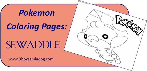 sewaddle pokemon coloring pages - photo#5