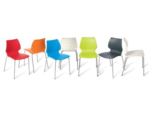 The Chill chair is a fashionable quilt-look cafe chair for indoor and outdoor use: http://www.montagenz.co.nz/products/cat/seating/cat1/hospitality-1/p/chill-chair/