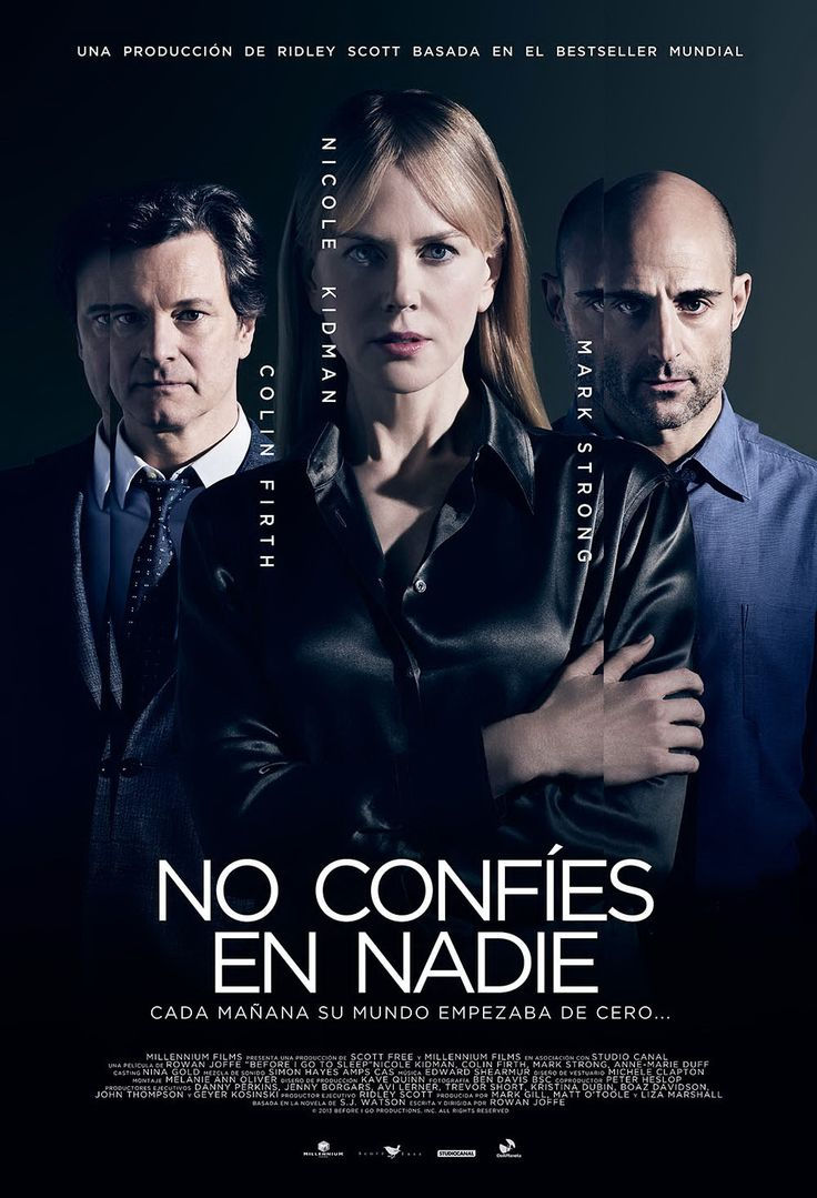 No confíes en nadie - Before I go to sleep