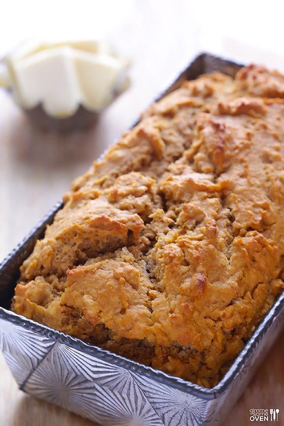 Pumpkin Beer Bread Recipe | gimmesomeoven.com