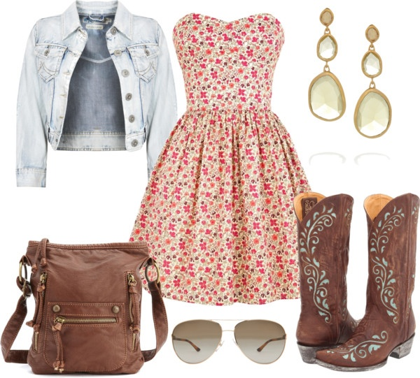 """Floral Spring Country Outfit"" by natihasi on Polyvore"