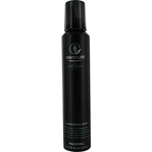 Paul Mitchell Awapuhi Wild Ginger Hydrocream Whip, 6.7 Ounce Paul Mitchell WHAT IT IS: A volumizing mousse with smoothing moisturizers WHAT IT DOES:Lifts roots and prevents frizz KEY INGREDIENT: Awapuhi and argan oil (moisturize, add shine); PVP (creates hold) The cushy white foam smells faintly like ginger ale.