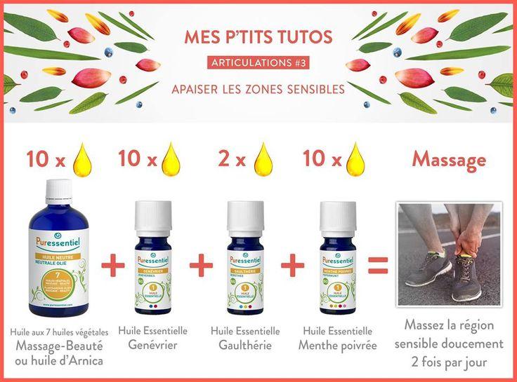 DIY : Soulagez vos articulations sensibles grâce à une formule maison aux huiles essentielles. Elle améliore la souplesse et la flexibilité des mouvements, de 7 à 77 ans ;)
