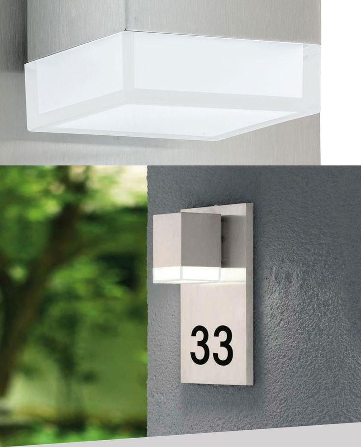 Praktisk og pen vegglampe fra Eglo for deg som vil at adressen din skal være litt mer synlig. Pardela 1 er produsert i rustfritt stål og kan brukes til alle husnummer som passer 1x A-F og 3x 0-9.