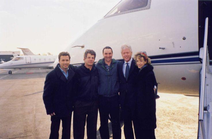 Bill Clinton Andrew Shue Chloe Traicos