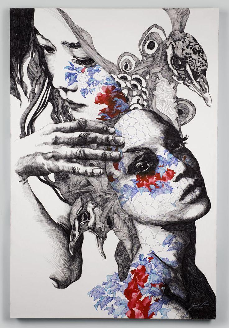 """Pavo real"" by Gabriel Moreno. http://gabrielmorenogallery.com/"