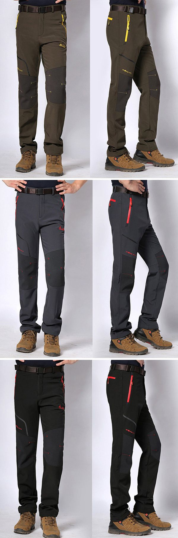 Mens Outdoor Sport Pants: Water-repellent/Breathable