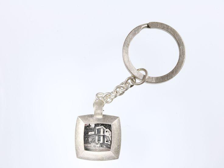 wegbegleiter www.wegbegleiter.com geschenk schmuck einzug eigenheim schlüsselanhänger  sterling silber