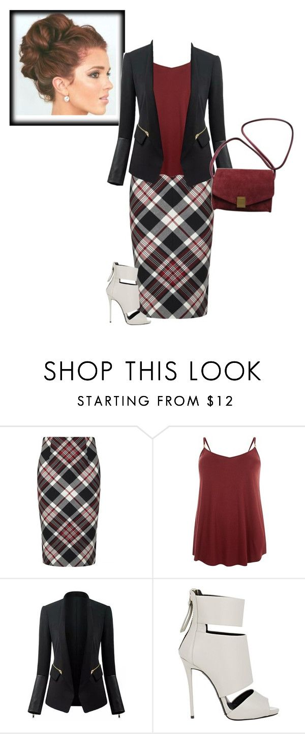"""Plaid Fad"" by apostolic-pentecostal-holiness ❤ liked on Polyvore featuring Alexander McQueen, Giuseppe Zanotti, Zadig & Voltaire and plus size clothing"
