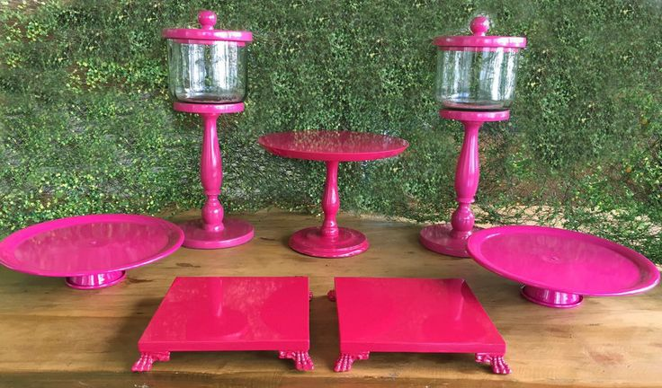 Kit Festa suportes Rosa pink ALUGUEL by Design Festeiro