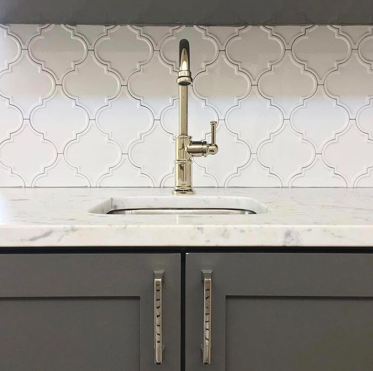 Byzantine Bianco Arabesque Backsplash By @tilebar