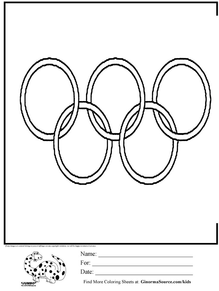 """OLYMPICS ring coloring with ordinal number directions """"color the first ring..."""""""