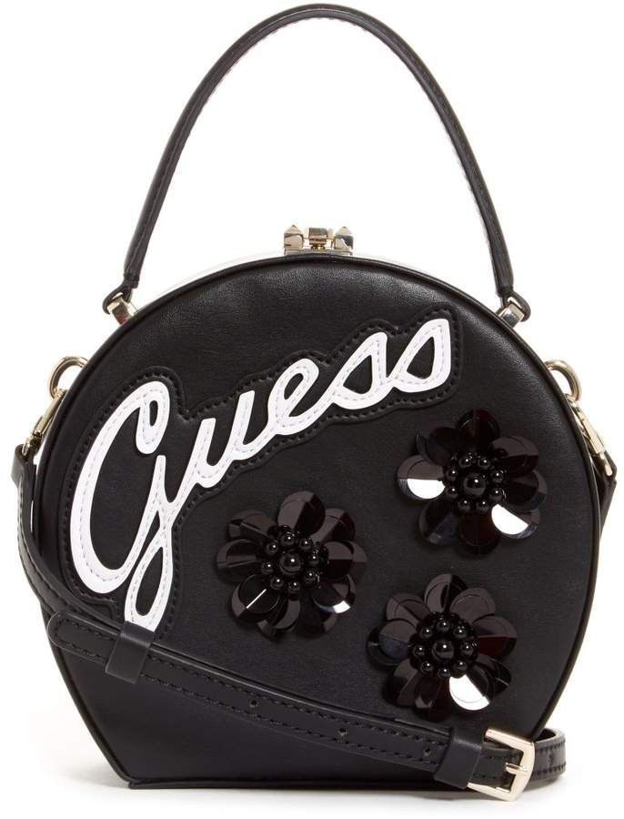 f52d123ac8 GUESS Britta Embellished Round Mini Satchel ( 61.60). A structured ...