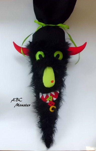 """Schultüten - Schultüte """" ABC Monster """" Buchstabenm... - ein Designerstück von Home-sweet-love bei DaWanda"""