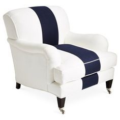 Checked Navy Accent Chair Google Search Club Chairs