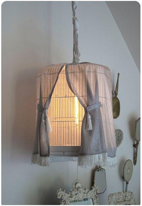 Bird cage lamp #Bird, #Lamp