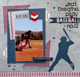 Moxxie All Star Baseball Scrapbook Papers
