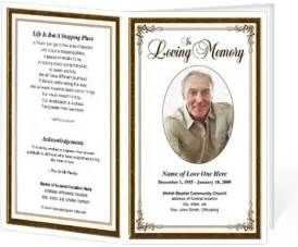 Elegant Frame Funeral Programs Templates – DIY Printables: Funeral ...
