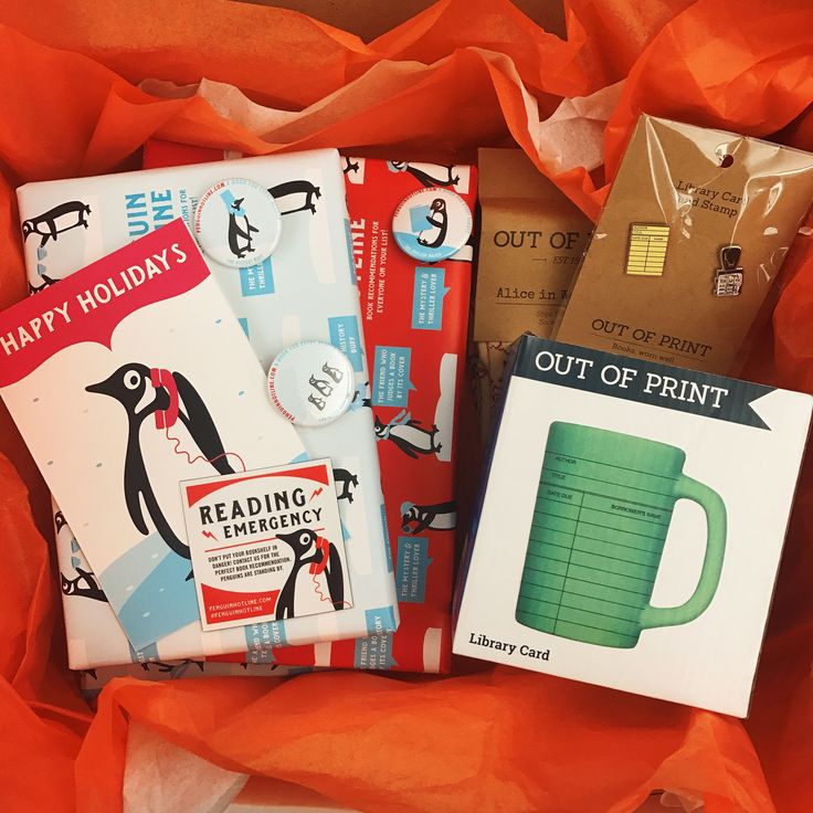 Enter for a chance to win the #PenguinHotline box filled with wrapped books and great literary merchandise from Out of Print!