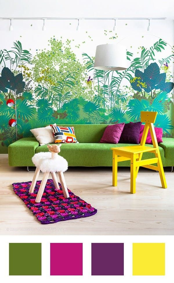 7 Ideas for Colors to Pair With Green When Decorating   Green is one of those colors that feels nostalgic, refreshing, comforting and glam all at once, depending on the shade. It's amazing in that it can lean cool or warm, which means the possibilities are vast when it comes to decorating with it. Here, we found seven fantastic spaces that use the color to great effect and walk you through how to introduce the fresh palettes into your home.