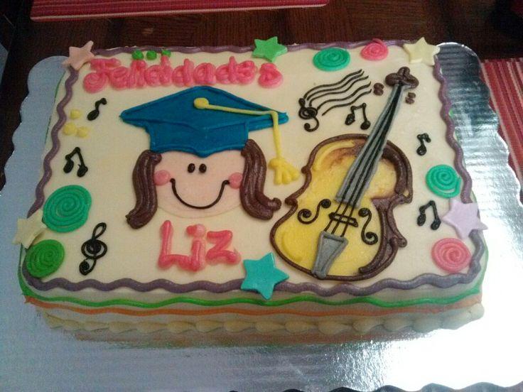 Pastel de graduación de Lic. En Música