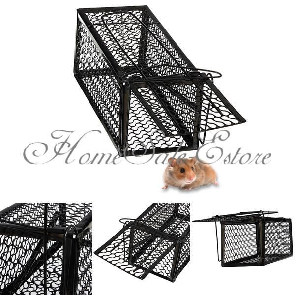 1/2/3 Mouse Live Trap Humane Cage Rodent Animal Rat Mice Control Catch Bait