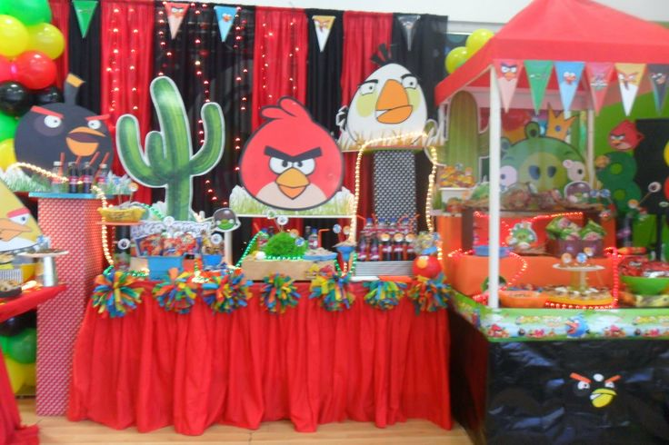 Castillos Eventos... de Ursula Newman: Angry Birds Fiesta infantil
