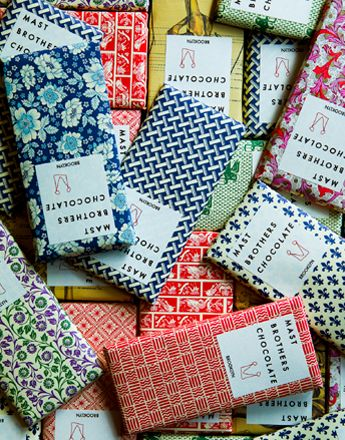 mast brothers chocolate - The variety of patterns in their packaging is quite stunning.