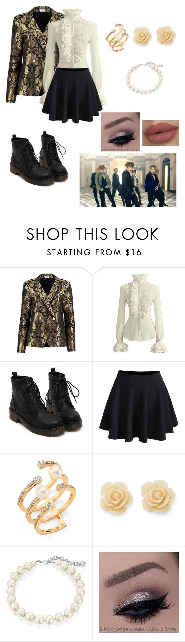 """""""BTS blood sweat and tears inspired outfit!! Request by xxsimplycutexx"""" by bts4ever02 ❤ liked on Polyvore featuring Sania Studio, WithChic, Hueb, Draper James and Carolee"""