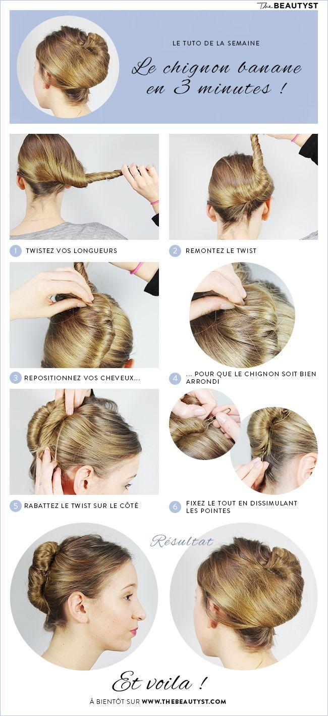 Chignon Coiffé Décoiffé Facile destiné les 11 meilleures images du tableau coiffure sur pinterest