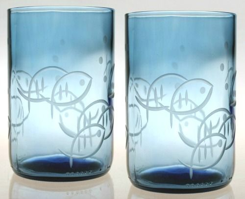 Blue Drinking Glasses with Fish Motif: http://www.completely-coastal.com/2016/05/coastal-nautical-drinking-glasses.html